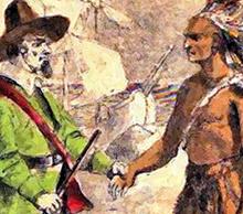 Pilgrims and Indians 220X194